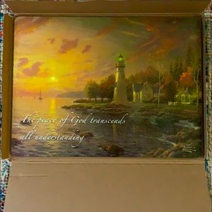 Thomas Kinkade Tempered Glass Cutting Board